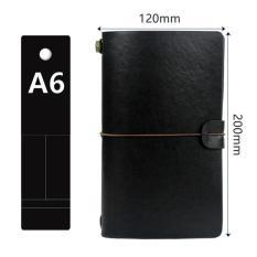 Sổ tay bìa da kích thước A6, kiểu dáng cổ điển, có thể thay ruột sổ