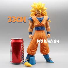 CAO 33CM Mô hình cao cấp Son Goku Ssj3 Super Saiyan 3 Songoku Dragonball Bảy viên ngọc rồng anime figure