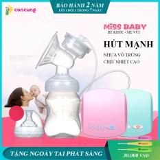 Máy hút sữa điện đơn Miss Baby có chế độ Massage kích sữa điều chỉnh 9 mức độ, Thiết kế thông minh tiện dụng, Tháo lắp dễ dàng, chất liệu nhựa PP an toàn tuyệt đối với trẻ ( Bảo hành 2 năm -Lỗi 1 đổi 1 trong 7 ngày )