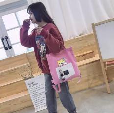 Túi Tote thời trang nữ mẫu mới siêu hot In Hình Chó Con phong cách Hàn Quốc GSS-2048 (30x41cm Ảnh Thật)