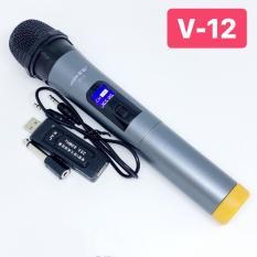 (Xã Kho – Giá Sốc) Micro Karaoke không dây cho loa kéo Daile / Aige / Zansong / Shuae V12 màn hình LCD (đen) – Hỗ trợ các thiết bị có jack cắm 3.5mm và 6.5mm