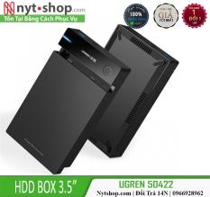 Hộp đựng ổ cứng 3.5 inch Sata/USB 3.0 hỗ trợ 10TB Chính Hãng Ugreen 50422