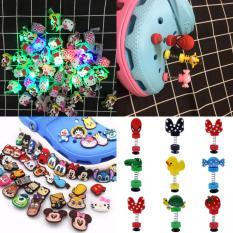 Combo 10 nút sticker 3D, 4D lò xo và đèn LED gắn dép sục (nhiều kiểu hình)