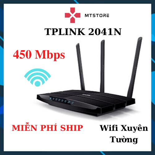 Bộ Phát Wifi – Cục Phát Wifi TPLink 3 râu 2041N chuẩn 450 Mbps Sóng Xuyên Tường – BH 6 Tháng