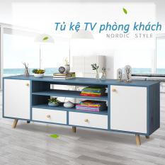 Kệ Tv phong cách Bắc Âu kệ TV bàn trà phòng khách hiện đại đơn giản nhiều không gian cất trữ màu sắc thanh lịch