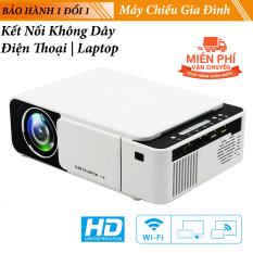 Máy Chiếu Kết nối không dây Cho Gia Đình T6A Độ Phân Giải HD 720P Siêu Nét Kết Nối Điện thoại SmartPhone – Laptop