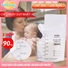 [Tặng mẹ bỉm] Túi trữ sữa DUOLADUOBU 250ML, mỗi hộp 30 cái , chất liệu không BPA, khóa zip đôi, túi trữ sữa mẹ size lớn, bịch trữ sữa dự phòng cho bé, túi trữ sữa ngăn đông, túi dự trữ sữa mẹ