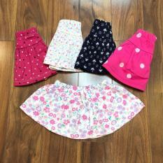 Chân váy bé gái liền chip vải cotton xuất dư mềm mịn