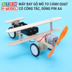 Đồ chơi sáng tạo STEM tự làm Mô hình máy bay động cơ mô tơ XMODEL ST7 Đồ chơi tự làm DIY – Do it Yourself – Giáo dục STEM