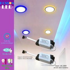 2 Nguồn drive tăng phô chấn lưu cho đèn Led trần 2 màu 3 chế độ (8-18)w+(4-6)w DLP-18+6