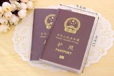 (COMBO 2) Vỏ bao Passport – vỏ bọc hộ chiếu, có ngăn đựng thẻ AMT, card. Chất liệu nhựa PVC chống ướt, chống trầy.