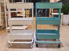 Kệ IKEA sắt đa năng 3 tầng Dày Dặn – XANH NGỌC