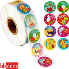 Sticker khen thưởng, Cuộn 500 sticker nhãn dán khích lệ khen thưởng học tập cho bé yêu với nhiều họa tiết kèm slogan khiến những giờ học thêm sinh động BBShine – ST010