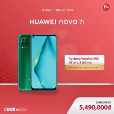 VOUCHER 50K | TRẢ GÓP 0% | Diện thoại Huawei Nova 7i (8GB/128GB) | Bộ 4 camera sau chụp ảnh linh hoạt | Màn hình LCD 6.4 inch độ phân giải | Full HD+ Cảm biến vân tay tích hợp nút nguồn