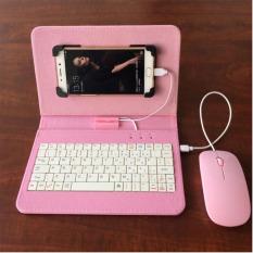 (Có video quay thật) bao da bàn phím kèm chuột cho điện thoại, máy tính bảng từ 4.-8 inch Android, thiết kế sang trọng và công nghệ hiện đại