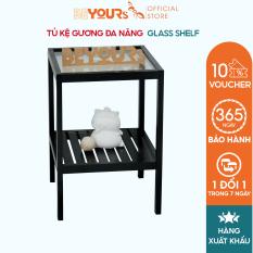 Kệ đầu giường gỗ đa năng mặt kính chịu lực BEYOURs Glass Shelf nội thất kiểu hàn lắp ráp
