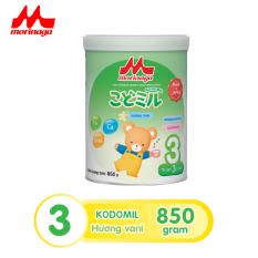 Sữa Morinaga Số 3 Kodomil Cho Bé Từ 3 Tuổi – Hương vani 850gr – HSD 03/2022 (không đai đổi quà)