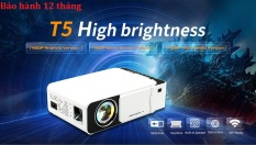 Máy chiếu Gia Đình Cao Cấp T5 Độ phân giải thật 480P-độ sáng 2400lumen-Phiên bản wifi