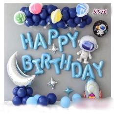 [Tặng Bơm + 20 bóng bay xanh] Set trang trí sinh nhật PHI HÀNH GIA VŨ TRỤ – Set trang trí sinh nhật bé trai dễ thương Smart Baby