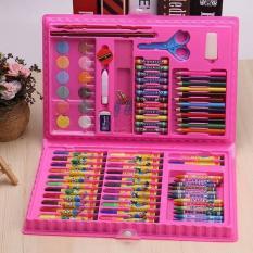 [Quà tặng con yêu] Hộp bút màu loại tốt cho bé tập tô, tập vẽ gồm có 86 chi tiết đủ món bút tô, bút chì, bút sáp, phấn màu kèm theo tẩy, gọt, bút lông, ghim, thước kẻ, bảng nhựa pha màu, kéo, hồ dán gọn gàng, tiện lợi