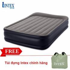 Giường hơi đôi tự phồng cao cấp 1m52 INTEX 64136, Nệm hơi 2 người, tích hợp bơm điện 2 chiều, có thể gấp gọn tiện dụng – Bảo hành 12 tháng