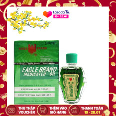 Dầu Gió Xanh Mỹ 2 Nắp (Eagle Brand Medicated Oil)