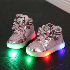 Giày thể thao phát sáng cho bé gái (kích thước EU 21-30/màu hồng) – hàng quốc tế