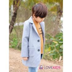 Áo dạ dáng dài bé trai Lovekids – xanh nhạt