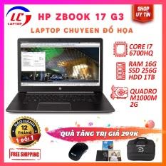 Laptop đồ họa hp zbook 17 g3 i7-6700hq,vga nvidia quadro m1000m- 2g, màn 17.3 full hd ips