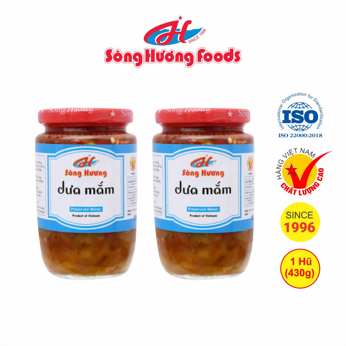 2 Hũ dưa mắm Sông Hương Foods hũ 430g