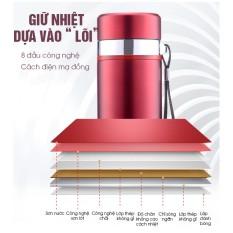 Bình nước giữ nhiệt inox cao cấp 700ml, giữ lạnh lên đến 12h inox 304, bình giữ lạnh 2 lớp