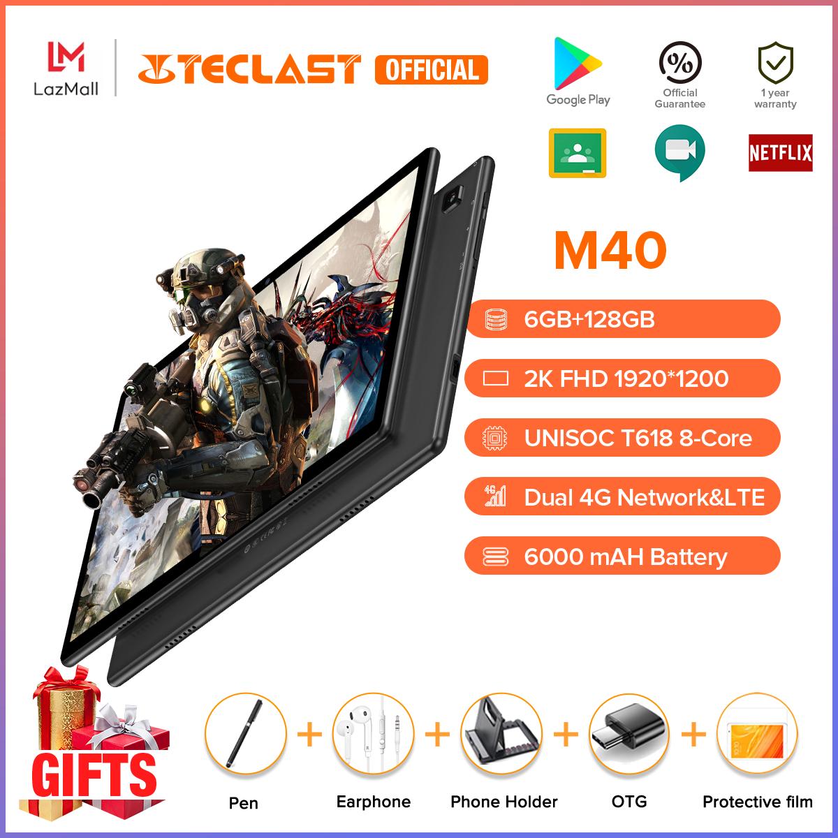 Hàng Mới Về   Máy Tính Bảng TECLAST M40 Mới Hệ Điều Hành Andoid 10.0 6GB RAM 128GB ROM 10.1 inch Camera Kép 8MP Có Thể Dùng 4G Bluetooth 5.0 UNISOC T618 Octa Core