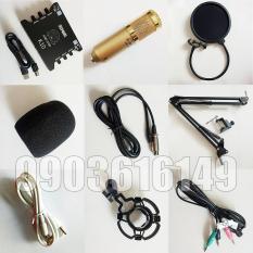 Combo sound card XOX K10 và Ami BM900 + kẹp bàn, màng lọc, dây livestream