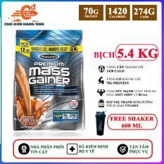 [TẶNG BÌNH LẮC] Sữa tăng cân tăng cơ Premium Mass Gainer của MuscleTech bịch 5.4 kg dễ hấp thu, không kén người dùng, có enzym tiêu hóa cho người gầy, kén ăn, khó hấp thu – thực phẩm bổ sung