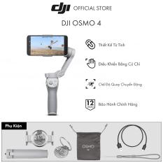 Tay cầm gimbal DJI Osmo Mobile 4 Combo chống rung điện thoại Hàng chính hãng