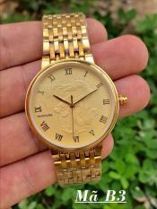 đồng hồ nam mặt rồng baishuns,dây vàng mặt vàng,chống nước tốt