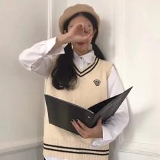 Áo len gile nữ , kiểu dáng Hàn quốc ( không kèm áo khác )