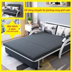 [Có Video] Giường Sofa Gấp Gọn Thành Ghế 1m93x1m32, Sofa Giường Đa Năng ( tặng kèm 2 gối trị giá 500k ), Khung Thép Chống Gỉ Cao Cấp