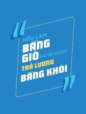 Tranh dán tường VTC Slogan văn phòng UD0143 Kim sa 60 x 80 cm