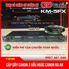 Vang số chỉnh cơ Gutin KM-5FX, siêu chống hú, echo mượt, reverb sáng, 8 hiệu ứng lập trình sẵn sử dụng cho dàn karaoke