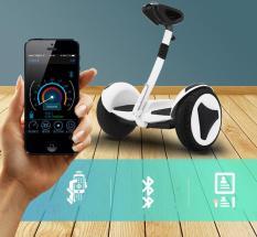 Xe điện cân bằng Mini Robot – XE ĐIỆN CÂN BẰNG THÔNG MINH – BẢN MỚI Có Bluetooth, đèn led, tay xách thuận tiện