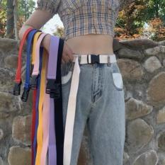 Dây nịt vải bố chốt nhựa – Thắt lưng vải Canvas khoá nhựa basic siêu xinh