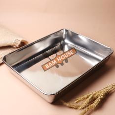 Khay đựng thức ăn và làm bánh inox 304 Bam House sáng bóng cao cấp KB01 – Bam House