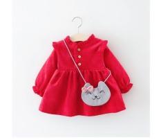 [Lấy mã giảm thêm 30%]Váy nhung tăm cho bé gái 2 lớp mềm mịn thích hợp cho mùa thu đông Đầm công chúa dài tay diện tết cho trẻ em gái có size từ 10- 25 kg
