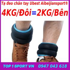 Tạ chì đeo chân tay thể thao 4KG/3KG/2KG/1KG/ĐÔI yoga, gym, chạy bộ cao cấp phiên bản 3.0 ABJSPORT- Thế hệ tạ gọn nhẹ và thẩm mỹ nhât hiện nay