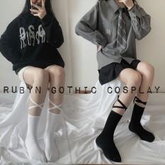 Tất cổ cao cột dây chéo phong cách lolita gothic ( hàng quảng châu )