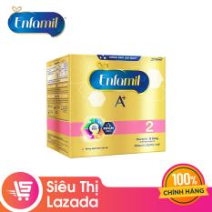 [Siêu thị Lazada] Sữa bột Enfamil 2 cho trẻ 6-12 tháng tuổi (2.2kg – hộp 4 túi thiếc 550g)