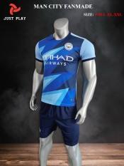 Quần áo bóng đá CLB MAN CITY FANMADE màu Xanh mới 2021