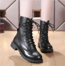 Giày boot nữ cao cổ phong cách ulzzang đế cao 2cm B140