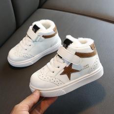 Giày bé gái cao cấp chất liệu da PU siêu ấm, thoáng khí tốt phong cách Hàn Quốc dành cho bé 1-14 tuổi